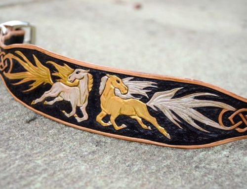 Celtic Horse Dog Collar – WIP