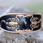 scorpion leather dog collar