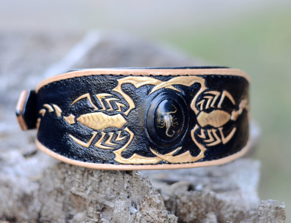 Golden Scorpion Dog Collar