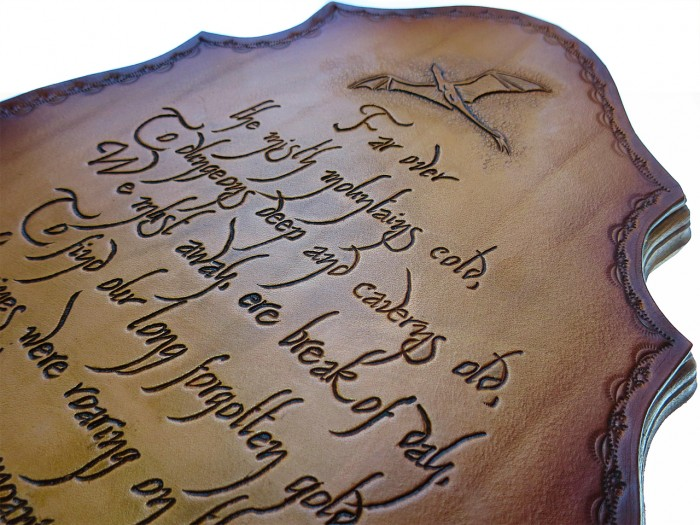The Hobbit Plaques - Brown 2