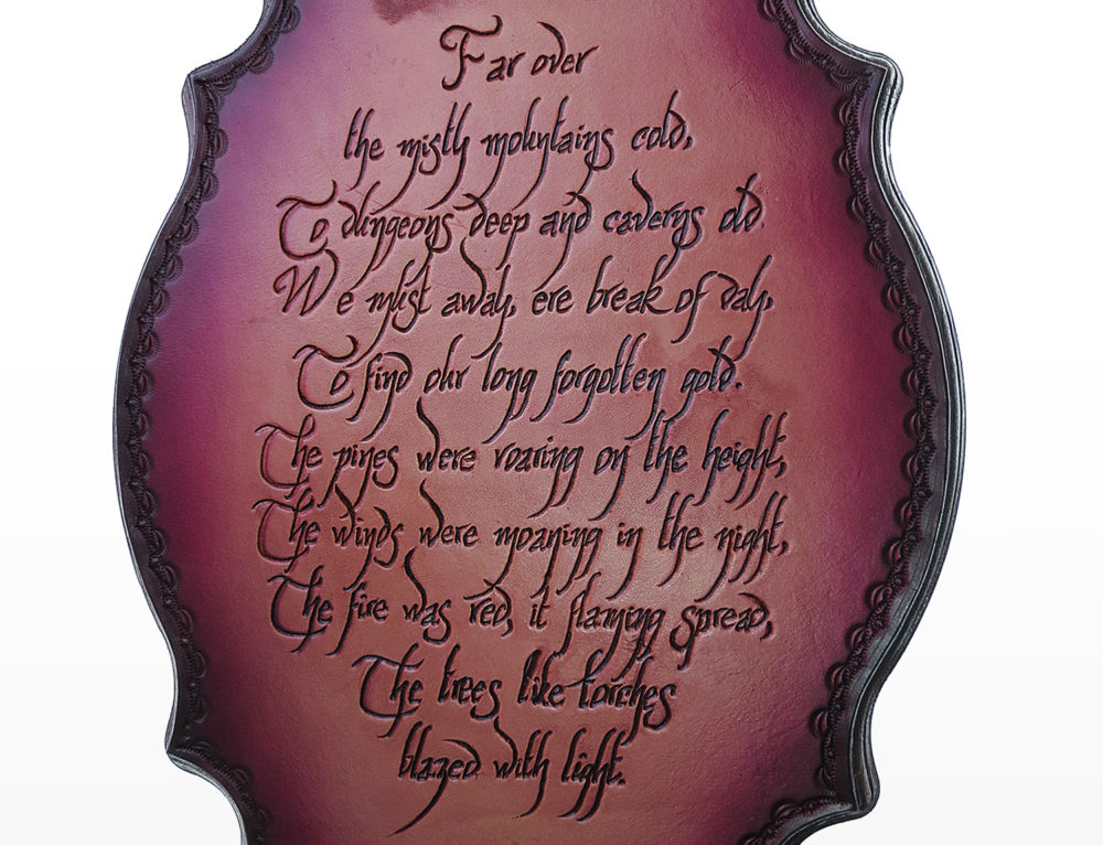 The Hobbit Plaque: Far Over the Misty Mountains Cold