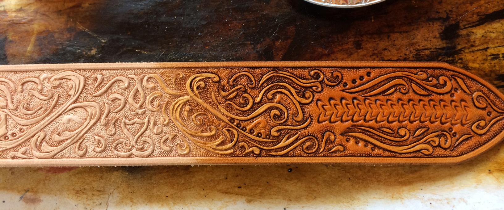 Leather engraving monogramming painting debossing and embossing