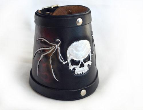 Skulls and Flames Cuff