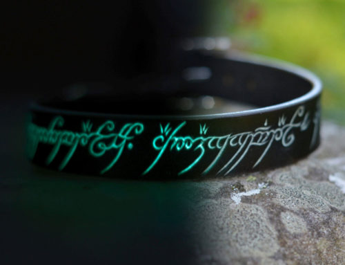 Glow in the Dark the One Ring Dog Collar